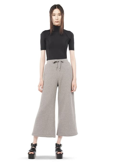 Wide Leg Sweatpants cotton fleece wide leg sweatpants wang