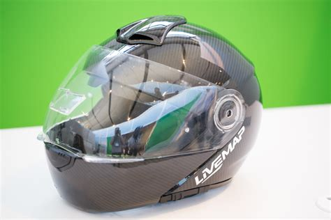 motorcycle helmet augmented reality livemap shows prototype of augmented reality