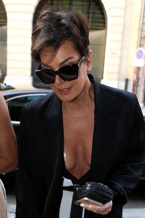 Kris Jenner Wardrobe by Kris Jenner S Wardrobe In A Low Cut Mini Dress