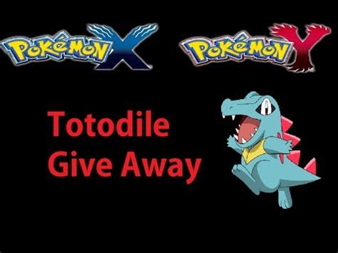 Pokemon X And Y Giveaway - pokemon x and y totodile giveaway youtube
