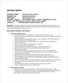 Veterinarian Description And Responsibilities by Sle Veterinarian Description 8 Exles In Pdf Word