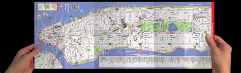 streetsmart nyc midtown manhattan map by vandam laminated pocket sized city map with all attractions museums broadway theaters hotels and subway map 2017 edition books bleecker nyc map my