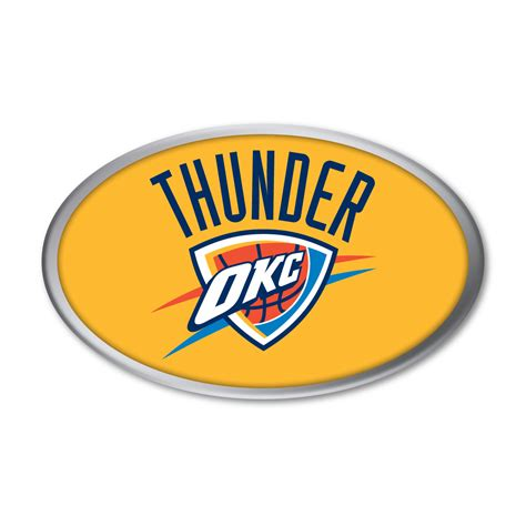 okc thunder colors oklahoma city thunder decals gallery