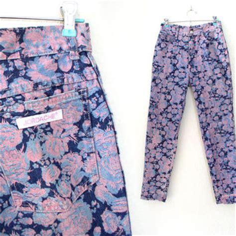rose pattern jeans shop vintage jordache jeans on wanelo