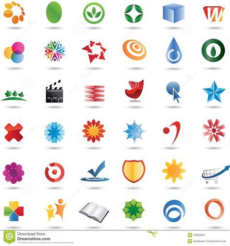 colorful logo design elements vector set colorful 36 vector logo design set stock vector