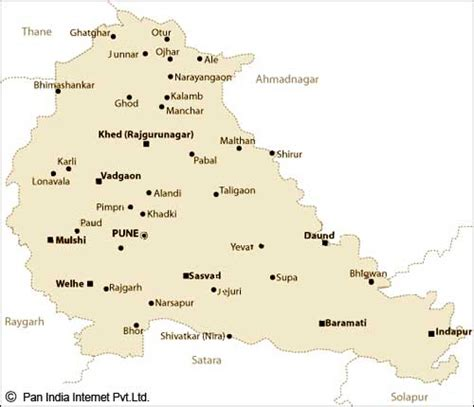 pune geographical map pune city maps pune tourist map pune road map