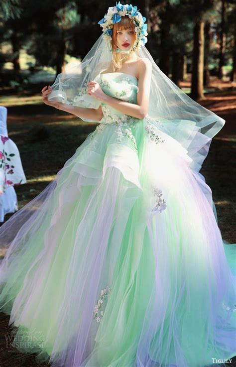 multi color wedding dress multi colored wedding gowns with tons of personality part