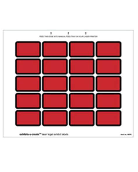 printable exhibit labels laser exhibits u create labels red 240 per pack
