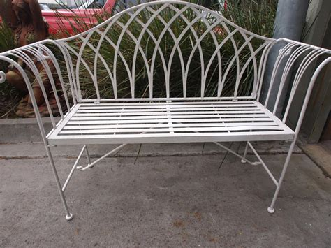 wrought iron garden bench seat lavinia antique white garden bench seat chair wrought iron