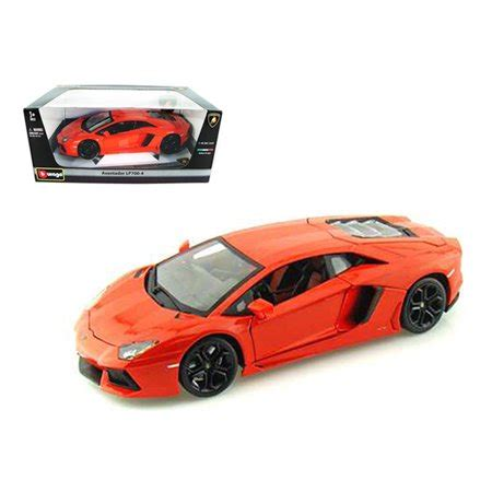 lamborghini aventador lp700 4 in orange 1 18 2012 lamborghini aventador lp700 4 orange 1 18 diecast model car by bburago walmart com