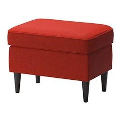 chair with footrest ikea strandmon footstool skiftebo orange ikea chairs