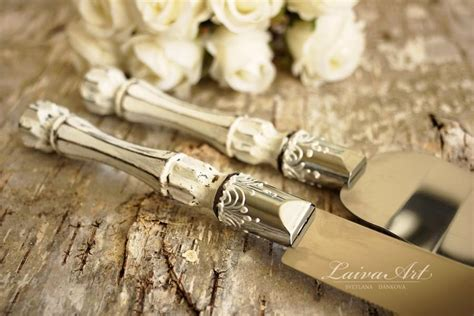 Hochzeitstorte Versetzt by Rustic Wedding Cake Server Set Knife Cake Cutting Set