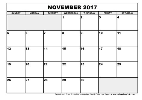 Printable Calendar November December 2017 | november 2017 calendar weekly calendar template