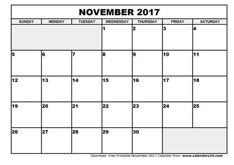 Calendar 2017 Nov November 2017 Calendar Weekly Calendar Template