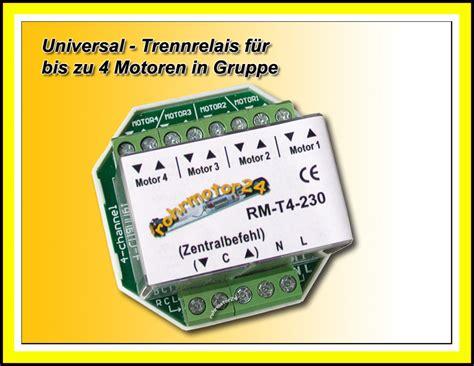 jalousie zentralsteuerung trennrelais steuerrelais up relais 4 motore rolladenmotor