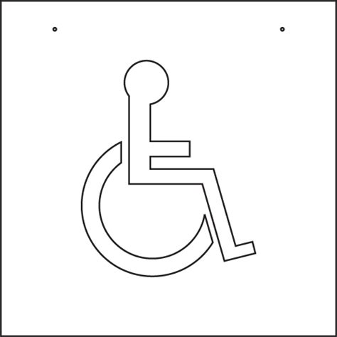 disabled parking template handicap logo stencil images