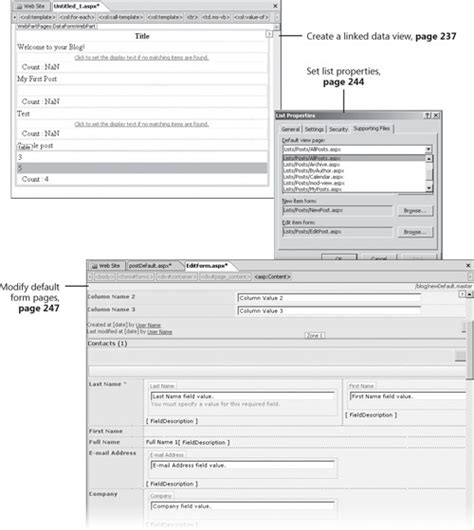O Reilly Application 11 Customizing List Forms And Pages Building Web