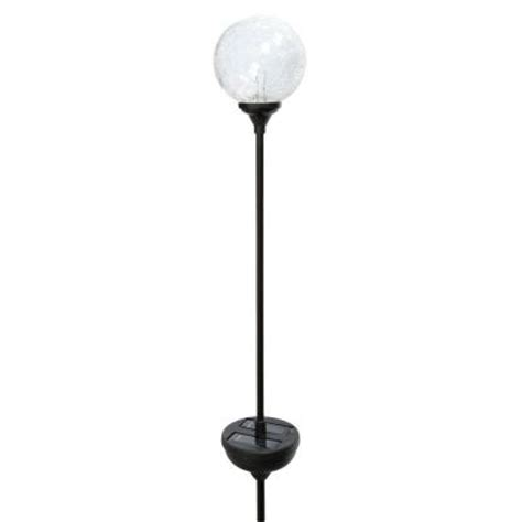 Globe Patio Lights Home Depot Moonrays Solar Powered Led Color Changing Outdoor Crackle Glass Globe Light 99924 The Home Depot