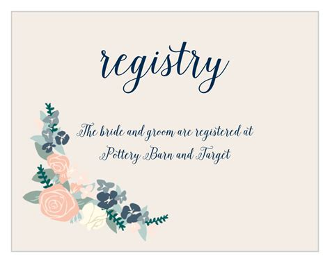 illustrated corner wreath registry cards