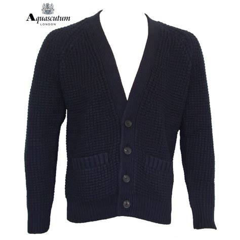 navy chunky knit cardigan aquascutum cardigan chunky knit navy b580025