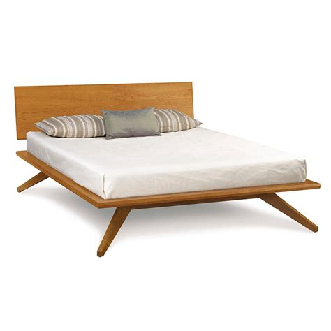 modern wood platform bed modern contemporary astrid platform bed solid cherry