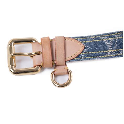 louis vuitton blue denim monogram belt cm