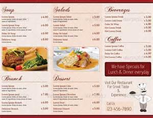 trifold menu template 15 premium tri fold menu card templates