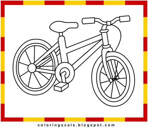 coloring pages printable for kids bicycle coloring pages