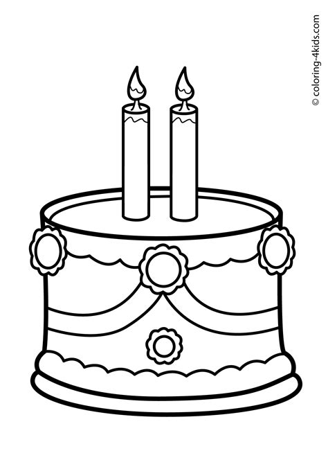 coloring pages birthday candles coloring pages for free