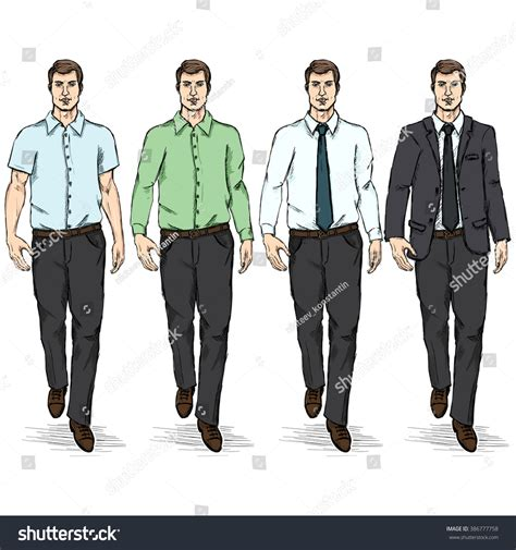 Mba Programs With Fashion Concetrations by Vector Set Sketch Models Business Stock Vector