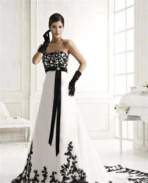 Black And White Wedding Dresses by Black And White Wedding Dresses Styles Of Wedding Dresses