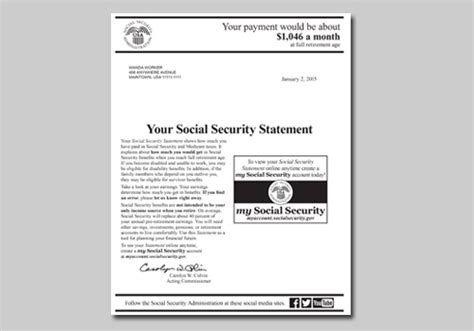 Award Letter En Espanol Your Social Security Statement Is Now At Your Fingertips Social Security Matters