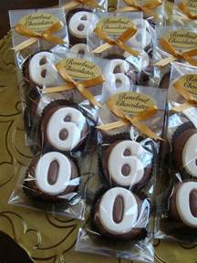 Ideas For 60th Birthday Favors by Happy Quot 60th Quot Birthday Chocolate Cookie
