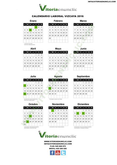 convenio farmacia bizkaia 2016 calendario laboral 2016 bilbao vizcaya vitoriaenunclic