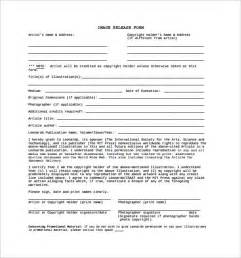 Photography Release Form Template by Image Release Form 13 Free Documents In Pdf