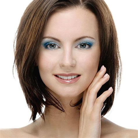 pictures of hair cuts for women with square jaws woman against white background 26 alluring short