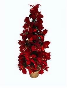 3 pre lit fiber optic red poinsettia christmas tree