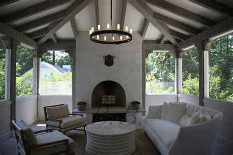 enclosed patio transitional deckpatio