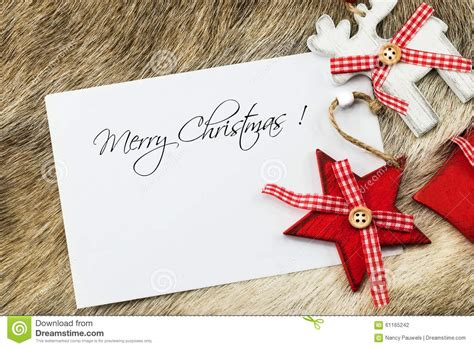 merry christmas wishes card stock photo image