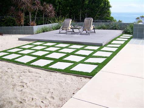 EasyTurf with Paver Stones Modern Landscape other