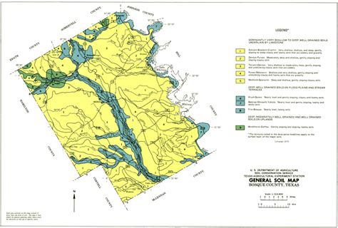general soil map bosque county texas the portal to texas history