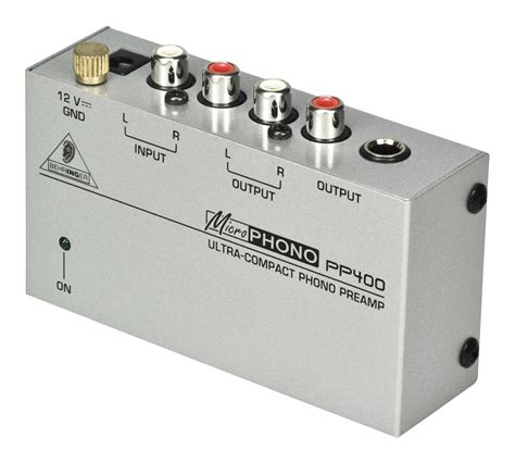 Behringer Phono Prelifiers Microphono Pp400 behringer pp400 microphono compact phono pre zzounds
