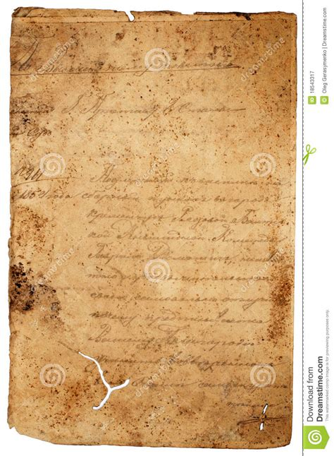 worn paper letter stock image image ancient blank