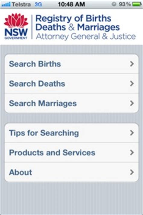 Nsw Birth Records Nsw Births Deaths And Marriages Family History App