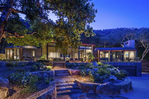 rustic modern country house  santa barbara  curved