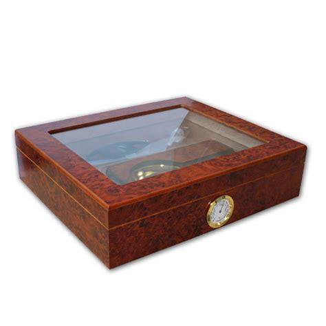 cigar humidor norfolk cigar humidor glass top with starter set