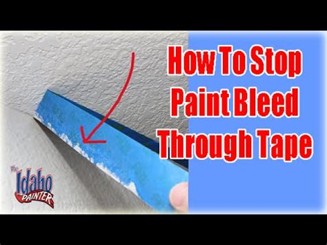 how to put photos on wall without tape paint bleeding through your masking tape stop paint bleed