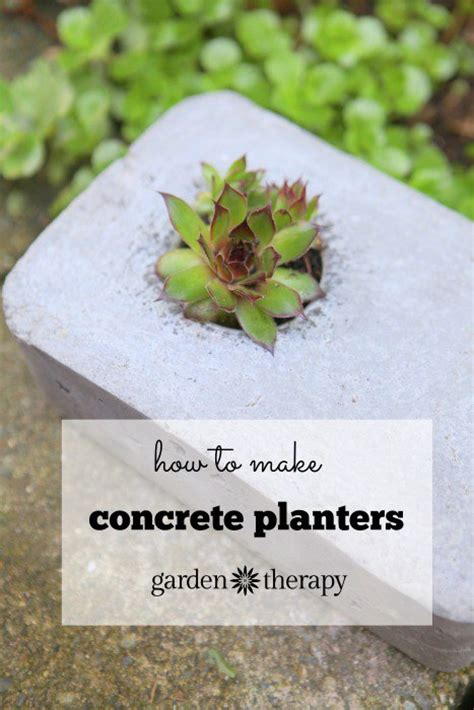 how to make concrete planters make your own concrete planters from recycling hometalk