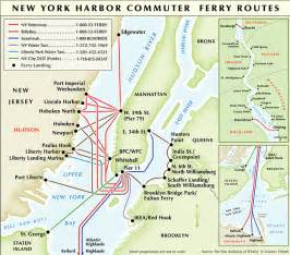 Map Of New York Waterways by Map Of Nyc Ferry Stations Amp Lines