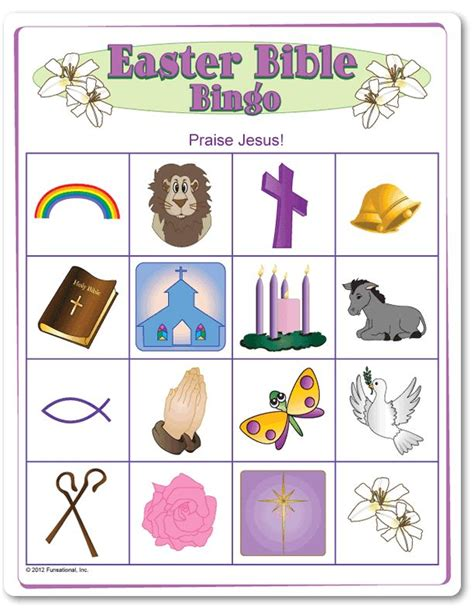 printable postcards for sunday school easter bible picture bingo game easter sunday school